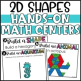 2D Shapes Activities and Tangrams Hands-On Math Center