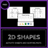 2D Shapes - Activity Sheets - Free