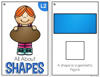 2D Shapes Adapted Books ( Level 1 and Level 2 )