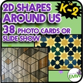 2D Shapes Around Us Real Life Picture Cards of Shapes