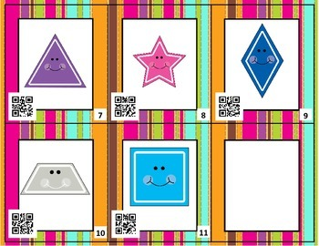2D Shapes Around the Room SCOOT with QR Codes