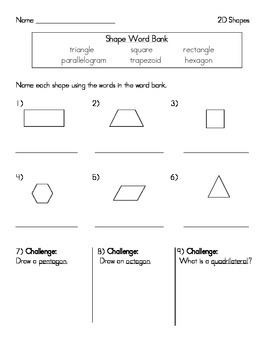 2D Shapes Assessment