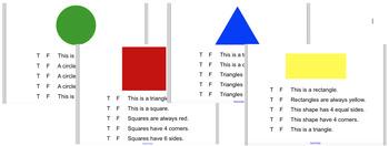 2D Shapes Attributes True/False