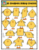 2D Shapes Baby Chicks {P4 Clips Trioriginals Digital Clip Art}