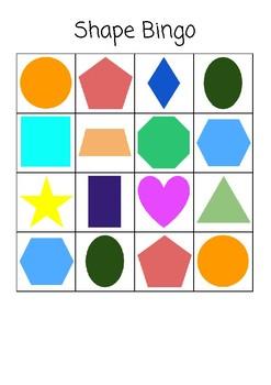2D Shapes Bingo