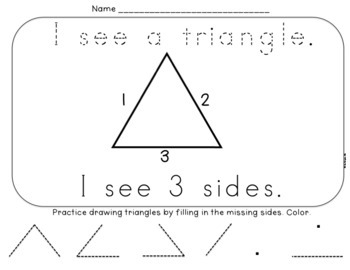 2D Shapes Book and Printables