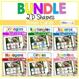 2D Shapes Boom Cards BUNDLE Digital Learning Sloth Theme