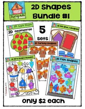 2D Shapes Bundle #1 {P4 Clips Trioriginals Digital Clip Art