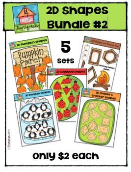 2D Shapes Bundle #2 {P4 Clips Trioriginals Digital Clip Art