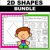 2D Shape Worksheets Kindergarten Preschool