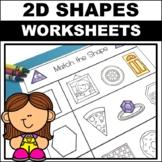 2D Shape Worksheets kindergarten/ preschool
