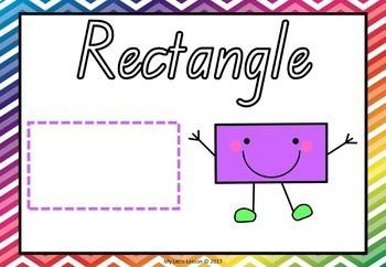 2D Shapes Bundle QLD Beginners Font: Worksheets, Posters, Playdough Mats