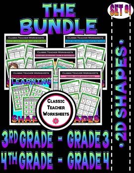 2D Shapes Bundle - Set 1 - 3rd-4th Grade (Grades 3-4)