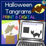 2D Shapes Center Halloween Tangrams Printable and Digital