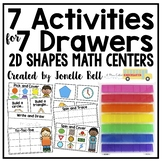 7 Activities For 7 Drawers 2D Shapes Math Centers