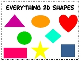 2D Shapes Centers and Worksheets
