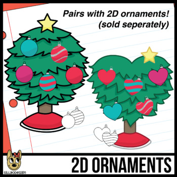 2D Shapes: Christmas Trees Clip Art