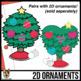 2D Shapes: Christmas Trees Clip Art