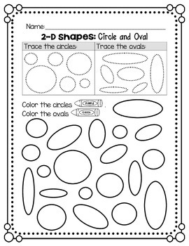 2D Shapes - Circle and Oval