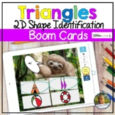 2D Shapes Triangles Digital Game   Boom Cards   Distance Learning