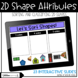 2D Shapes | Classifying and Sorting | Boom Cards™ | Distance Learning