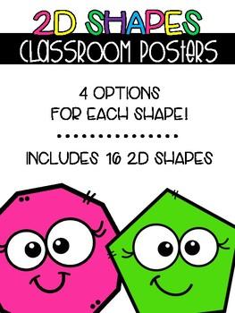 2D Shapes - Classroom Posters