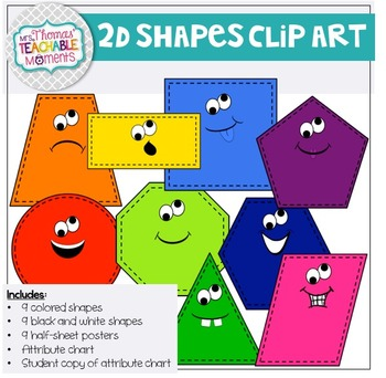 2D Shapes Posters/Notes/Journal Pages