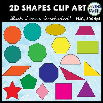 2D Shapes Clip Art (50 % off for LIMITED TIME)