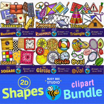 2D Shapes Clip Art Bundle