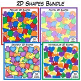 2D Shapes Clip Art Bundle