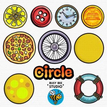 2D Shapes Clip Art: Circles