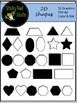 2D Shapes Clip Art For Math - Color and BW