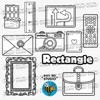 2D Shapes Clip Art: Rectangles