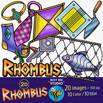 2D Shapes Clip Art: Rhombus