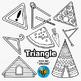 2D Shapes Clip Art: Triangles