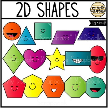 2D Shapes (Clip Art for Personal & Commercial Use)