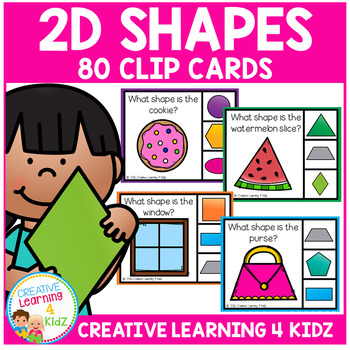 2D Shapes Clip Cards