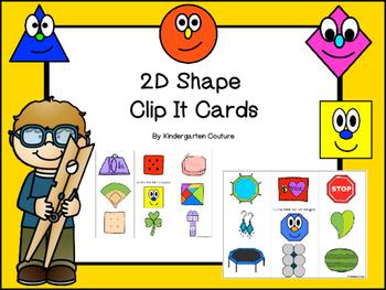 2D Shapes (Clip It Cards)