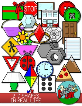2D Shapes in Real Life Clip art