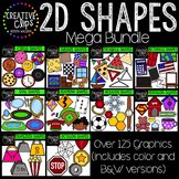 2D Shapes Clipart Bundle {Creative Clips Digital Clipart}