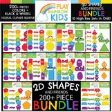 2D Shapes Clipart Bundle {Play Rainbow Kids}