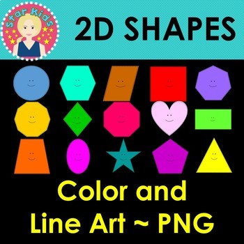 2D Shapes Clipart - COMMERCIAL USE OK
