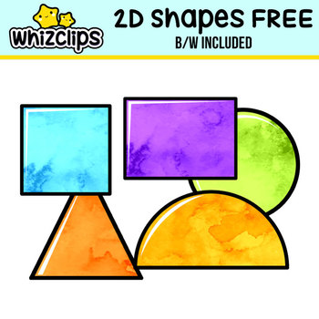 2D Shapes Clipart - (FREE)