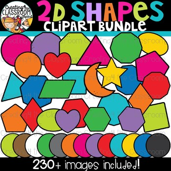 2D Shapes Clipart {Geometry Clipart}