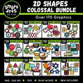 Math 2D Shapes Clip Arts COLOSSAL Bundle