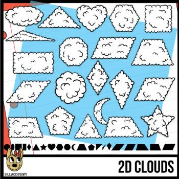 2D Shapes: Cloud Clip Art