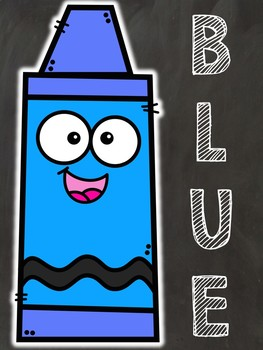 2D Shapes & Color Posters (Chalkboard Theme)