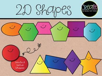 2D Shapes - Digital Clipart