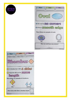 2D Shapes Color and Learn Doodle Notes Elementary Math Activities