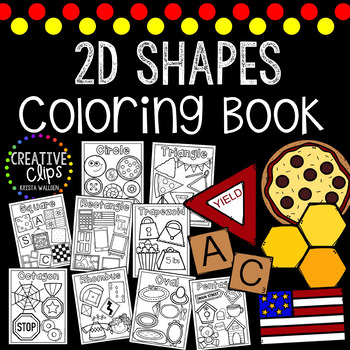 2D Shapes Coloring Book {Made by Creative Clips Clipart} | TpT